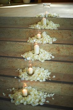 43 ideas wedding ceremony decorations candles rose petals for 2019 Wedding Church Aisle, Wedding Ceremony, Our Wedding, Dream Wedding, Trendy Wedding, Church Ceremony, Simple Church Wedding, Wedding Ideas, Wedding Venues