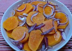 Ecetes-hagymás édesburgonya saláta recept foto Sweet Potato, Cantaloupe, Pancakes, Food And Drink, Potatoes, Fruit, Breakfast, Morning Coffee, Potato