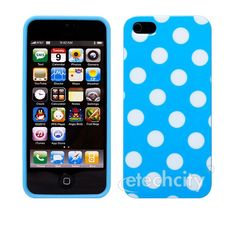 FunDay Series Polka Dots TPU Case for Apple iPhone 5 [HCP-UT1698] - $12.00 : Blue