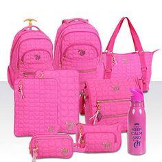 Resultado de imagem para capricho mochilas Mini Mochila, Luggage Sets, Black Girls Rock, Kids Fashion, Womens Fashion, Girls Bags, Backpack Purse, Pink Love, Pink Shoes