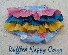 Threading My Way: Ruffled Nappy Cover... made using a pattern by Tie Dye Diva