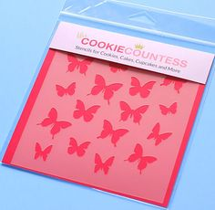 Use the butterfly cookie stencil to decorate cookies, chocolate covered Oreos…