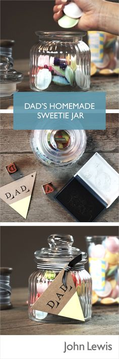 44 Trendy Diy Gifts For Mum Homemade Fathers Day Gifts For Mum, Gifts For Father, Cool Gifts, Diy Gifts, Sweet Jars, Father's Day Specials, Diy Presents, Fathers Day Crafts, Inspirational Gifts