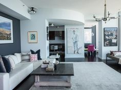 White Living Room with Cupola and Large Sectional : Designers' Portfolio : HGTV - Home & Garden Television