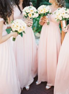 pretty pink Bridesmaid Dresses by www.rachelpally.com/  Photography by jemmakeech.com, Floral Design by naturalartflowers...