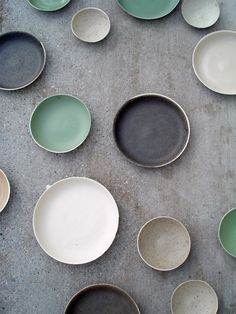 Beautiful porcelain by Kirstie Van Noort,  colour, colour palettes