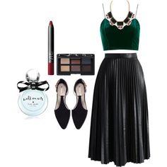 Treat yo' self by jaspreet-lall on Polyvore featuring polyvore fashion style Topshop Chicwish Zara NARS Cosmetics Kate Spade