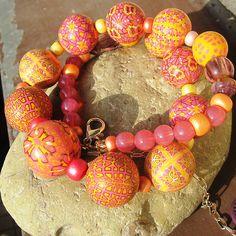"""Dolce vita"" Polymer clay beads | . | Pavla Cepelikova | Flickr"