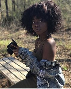 Hair Natural Hair Natural Hair Styles Black Hair Black Girl Make Up Black Girl Fashion Outfit Ideas Hair Inspiration Natural Hair Types, Pelo Natural, Natural Styles, Dark Skin Beauty, Hair Beauty, Black Beauty, My Black Is Beautiful, Beautiful Women, Beautiful Body