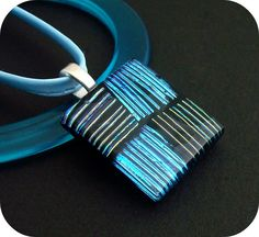 Division Dichroic Pendant by Combustion Glassworks