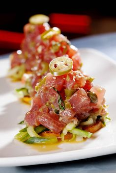 "Search Results for ""Tuna ceviche tacos"" – Nummy Num Num Fish Dishes, Seafood Dishes, Fish And Seafood, Seafood Recipes, Appetizer Recipes, Appetizers, Dinner Recipes, Sushi Recipes, Mexican Food Recipes"