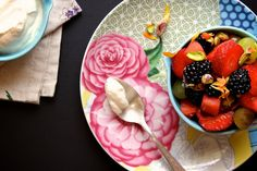 rose water pistachio fruit salad...perfect for summer