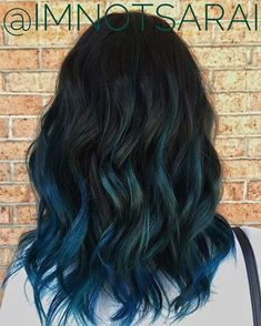 After salons introduced us to the balayage dye method, we never looked back. The technique — which consists of actually painting color onto hair — ideas styles 50 Dreamy Rainbow Balayage Ideas to Inspire Your Next Dye Job Hair Dye Colors, Ombre Hair Color, Hair Color Balayage, Cool Hair Color, Blue Ombre, Pelo Color Azul, Colored Curly Hair, Dye My Hair, Mi Long