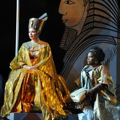 At #Opera #Australia: Milijana Nikolic as Amneris and Latonia Moore as #Aida