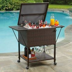 wicker beverage cart - Google Search