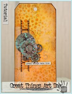 Great Things Art Tag Tutorial by Tammy Tutterow   www.tammytutterow.com