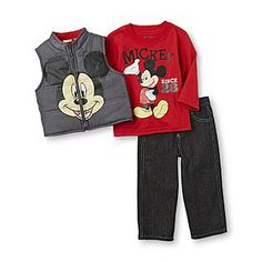 Disney Baby- -Infant & Toddler Boy's T-Shirt, Jeans & Vest - Mickey Mouse $18.74