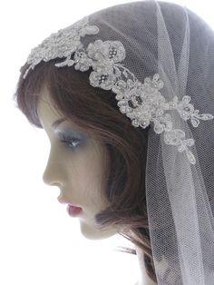 Couture+bridal+cap+veil+1920s+wedding++veil++by+SarahMorganBridal,+£135.00