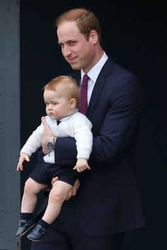 ...And how I copy my dad's sideways smile. | The Official Ranking Of Prince George's Best Facial Expressions