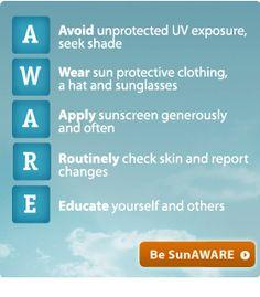 Sun Protection Advice from SunAWARE