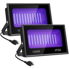 Onforu 2 Pack 15W Uv Led Black Light Ultraviolet Outdoor Flood Light Ip66 Water