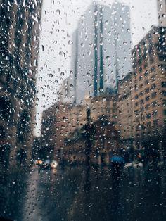 It's raining in the city