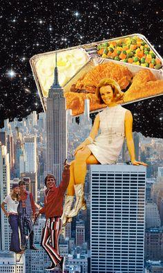 'Skyline' by Annette von Stahl vintage collage artist.