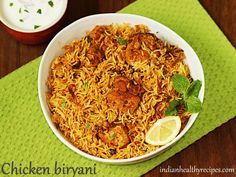 chicken biryani is a delicious one pot dish where chicken is cooked with fragrant rice & spices. chicken biryani is a delicious one pot dish where chicken is cooked with fragrant rice & spices. Chicken Biryani Recipe Hyderabadi, Easy Chicken Biryani Recipe, Biryani Chicken, Easy Chicken Recipes, Chicken Byriani Recipe, Fish Biryani, Hyderabadi Cuisine, Indian Food Recipes, Asian Recipes