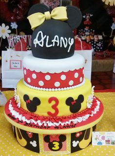 Minnie Mouse Inspired Treats Table. Cakes, Cake Pops, Cupcakes, Cookies, Fudge, Lollypops, Gumballs, Rock Candy Pops, Popcorn, Plushies, Piñatas, Flowers, Pictures & So Much More In One Big Birthday Candy Table.
