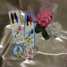 Birdy key fob and pen holder by stitchdelight.net