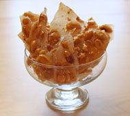 The best, butteriest, thinnest, most delicious brittle! Has no baking soda, so no soda after-taste.