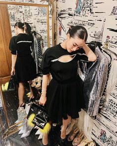 """LBD's are such a staple in my wardrobe because they can take me from day to night.✨ This number from is easily…"" Heart Evangelista Style, Filipina Actress, Versus Versace, Take My, My Wardrobe, Cold Shoulder Dress, Asian, Actresses, Photo And Video"