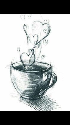 Drawing in pencil, painting tutorial; Easy Pencil Drawings, Cute Drawings, Drawing Sketches, Pencil Sketching, Pencil Drawing Tutorials, Charcoal Drawings, Beautiful Drawings, Drawing With Pencil, Pencil Sketch Art