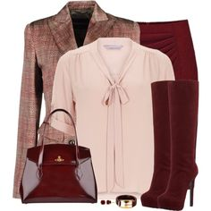 A fashion look from December 2014 featuring petite blouses, multi colored blazer and wool skirt. Browse and shop related looks.