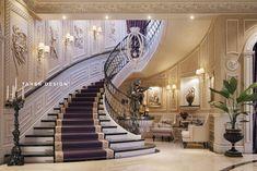 "Luxury mansion interior "" qatar "" mansions, studio, luxury, home decor, mansion Mansion Interior, Dream House Interior, Luxury Homes Interior, Home Interior Design, Grand Staircase, Staircase Design, Stairs, Modern Mansion, Classic House"