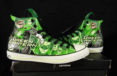 Converse Green Lantern All Star Chuck Taylor Kicks / Sneakers Converse Dc Comics, Converse All Star, Converse Chuck Taylor, Me Too Shoes, Men's Shoes, Shoes Sneakers, Designer Shoes, Lanterns, Fashion Shoes