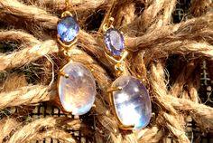 gold Tanzanite and white rainbow earrings White Rainbow, Pearl Earrings, Jewellery, Pearls, Gold, Pearl Studs, Jewels, Schmuck, Beads
