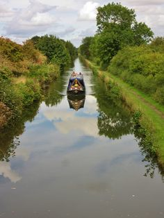 Canal Narrow boat and reflections, Middleton, England All Original Photography by http://vwcampervan-aldridge.tumblr.com