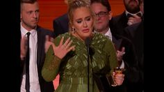 "Adele paid tribute to Beyoncé and described the album ""Lemonade"" as ""mon..."