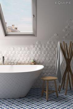 Revêtement mural 3D en céramique pâte blanche MAGICAL 3 by EQUIPE CERAMICAS