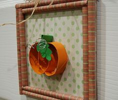 Toilet Paper Roll & Paper Pumpkin Art