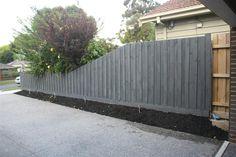 Pretty Black Fence Paint