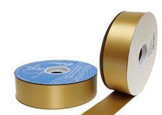 #9 Holiday Gold Flora Satin Ribbon 1- 7/16 X 100 Yards (1 Roll)