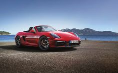 Red Porsche Boxster GTS
