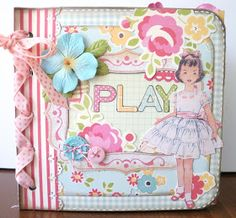 Two Crazy Crafters: A Vintage Girl Mini Album