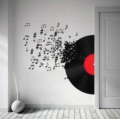 decoracao-utilizando-instrumento-musical-35 Faça você mesmo: 37 ideias de decoração musical para sua casa decoracao-2 design dicas faca-voce-mesmo-diy fotos interiores musica