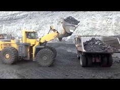 Погрузка угля на Белаз. Разрез Степной, пласт Гигант #русскийУголь