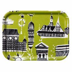 #pintofinn  Marimekko Helsinki Lime Tray - Click to enlarge