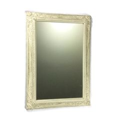 PRETTY WHITE MIRROR For Her Chic Ornate Mirror by ShabbyShores