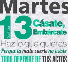 Martes 13 #Martes13 https://www.facebook.com/Sarins.es